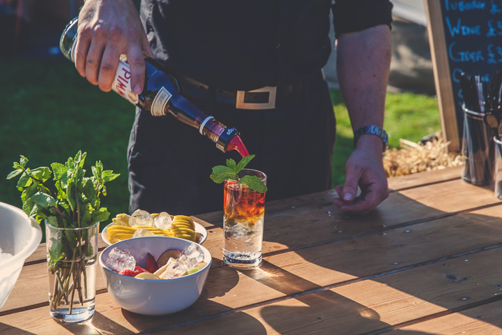 Pimm's Cocktail Wedding Bar