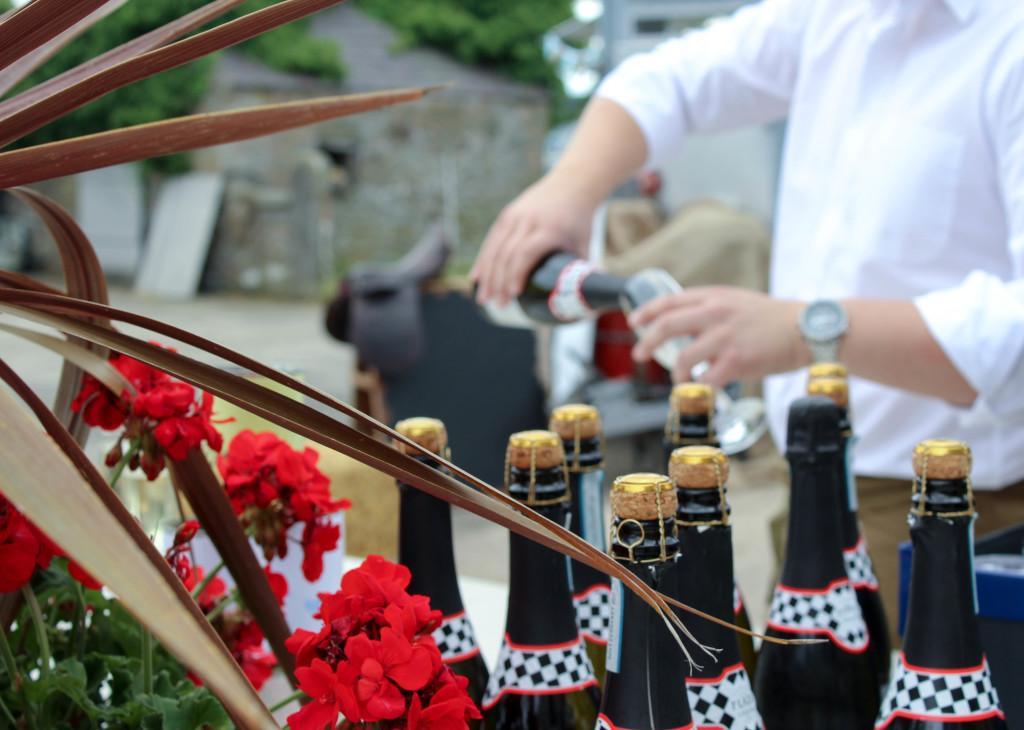 champagne bar wedding event