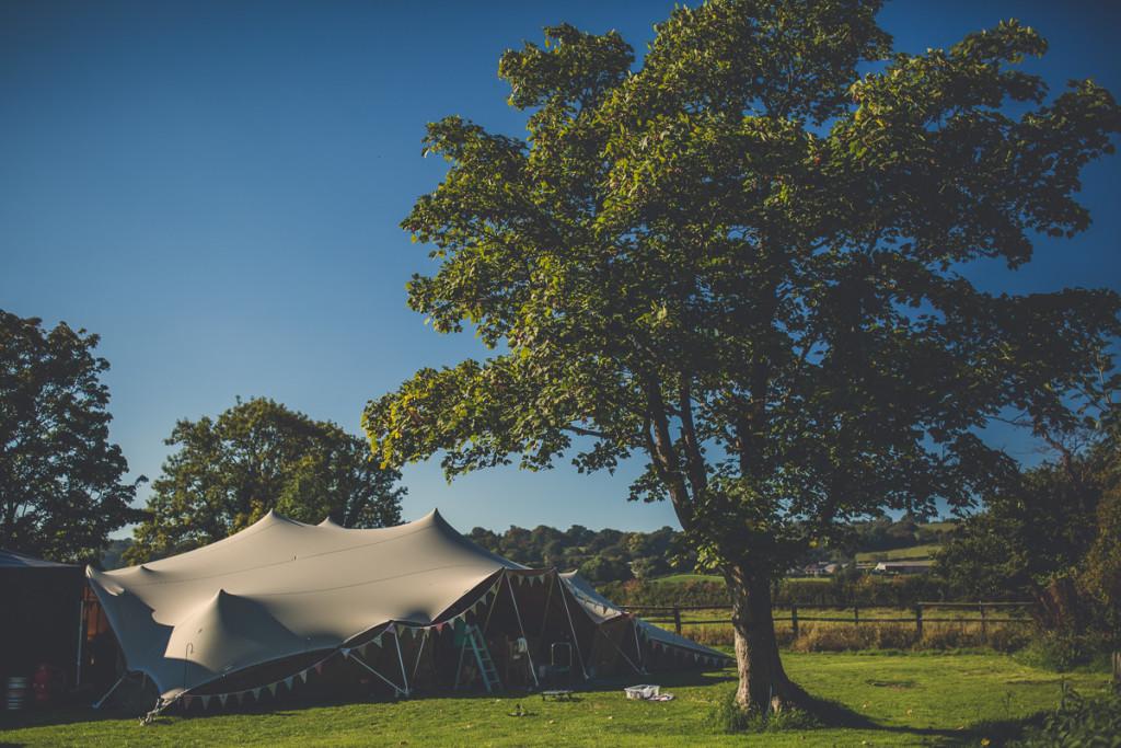 Strech tent marquee welsh wedding