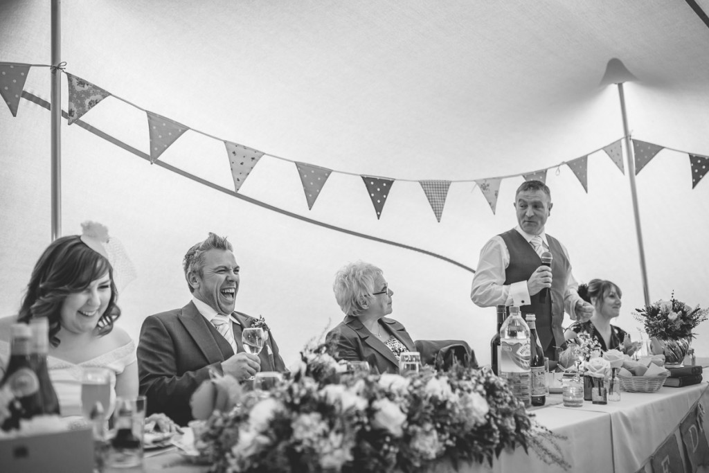 speaches in strech tent marquee